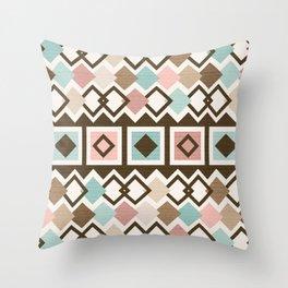 Mid Century Modern Mud Cloth Geometric // Desert Colors Throw Pillow