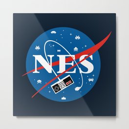 NES Space Metal Print