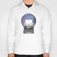 typewriter Hoodies featuring Typewriter by Rebecca Joy - Joy Art and Design