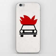 the car's on fire iPhone & iPod Skin
