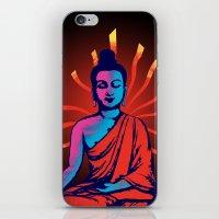 buddha iPhone & iPod Skins featuring Buddha by famenxt
