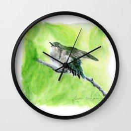 Little Hummer by Teresa Thompson Wall Clock