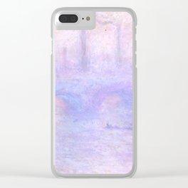 "Claude Monet ""Waterloo Bridge, Effect of Fog"" Clear iPhone Case"