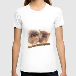 2 Babies owl T-shirt