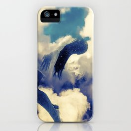 Woman and sky iPhone Case