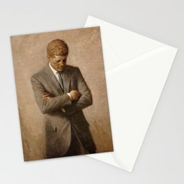 John F. Kennedy Painting Stationery Cards