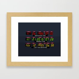 Time Circuits (The 2015 Collection) Framed Art Print