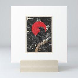 Red Moon Raven Graphic Black Crow T-Shirt & Design Mini Art Print