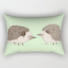 Two Hedgehogs Rectangular Pillow