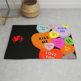 Cupid in search mode Rug