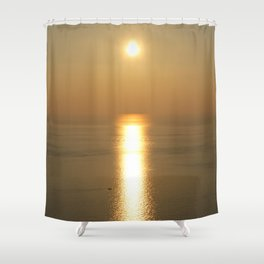 Sunset over the Mediterranean Shower Curtain