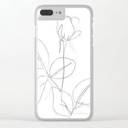 Minimal Line Drawing 4 Clear iPhone Case