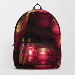 Red glowing candles Backpack