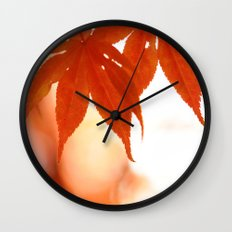 Maple Reds Wall Clock
