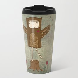 Little Owl Girl Travel Mug