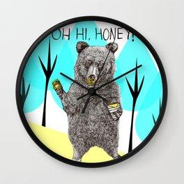 Oh, Hi Bear! Wall Clock