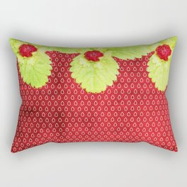 Strawberry LOVE - Strawberries pattern and Illustration Rectangular Pillow