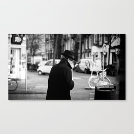 The Man in the Trench Coat Canvas Print
