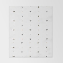 Bees on bees Throw Blanket
