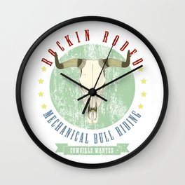 cowgirls wanted Wall Clock