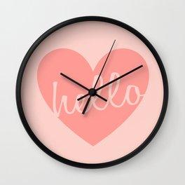 Hello Heart Wall Art #6 Peaches Wall Clock