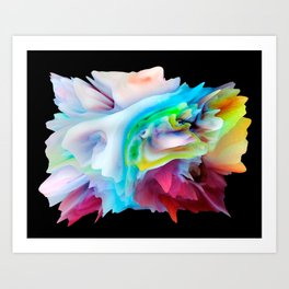 Your World 15 - Abstract 3D Milk Painting Art Print