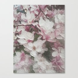 Magnolia Blooms in the Rain Canvas Print