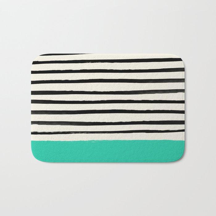 Mint x Stripes Bath Mat