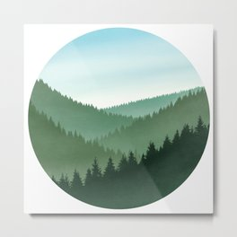 Pinescope Metal Print