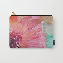 Watercolor flowers and leaves Carry-All Pouch