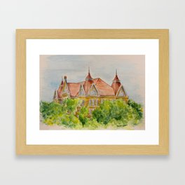 Texas State (SWT) University Old Main Building, San Marcos, TX Framed Art Print