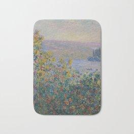 Claude Monet  -  Flowers Beds At Vetheuil Bath Mat