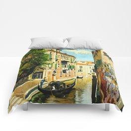 Venezia - Venice Italy Vintage Travel Comforters