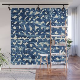 Indigo love Wall Mural