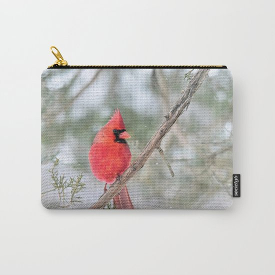 Winter's End Cardinal Carry-All Pouch