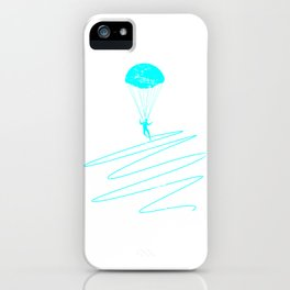 Paragliding Sportsman Parachute iPhone Case