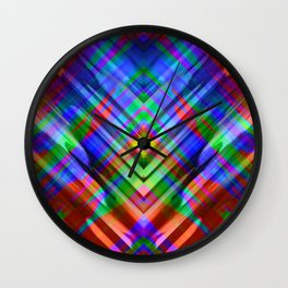 Colorful digital art splashing G531 Wall Clock