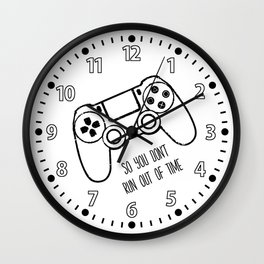 Video Games Black on White Wall Clock