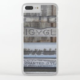 Antique Washer Clear iPhone Case
