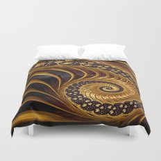 Elegant Black Gold Shell Duvet Cover