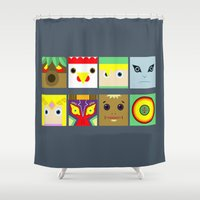 zelda Shower Curtains featuring ZELDA GAME by pipocaVFX