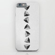 falling cube grey Slim Case iPhone 6s
