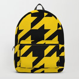 Gold Hounds Tooth Backpack