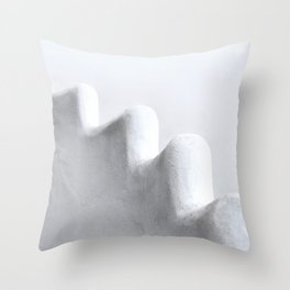 White and Minimal Throw Pillow