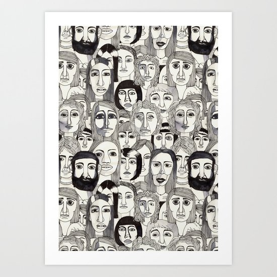 Faces in the Tube Art Print
