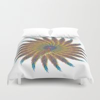 feather Duvet Covers featuring Feather by kartalpaf