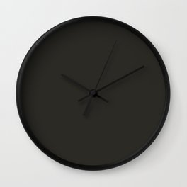 Cedar Creek ~ Dark Taupe Wall Clock