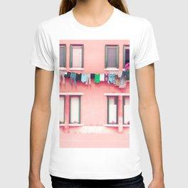 Laundry Venice Italy Travel Photography T-shirt
