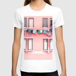 Laundry Venice Italy Travel Photography T-shirt