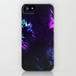 Space Flowers iPhone Case
